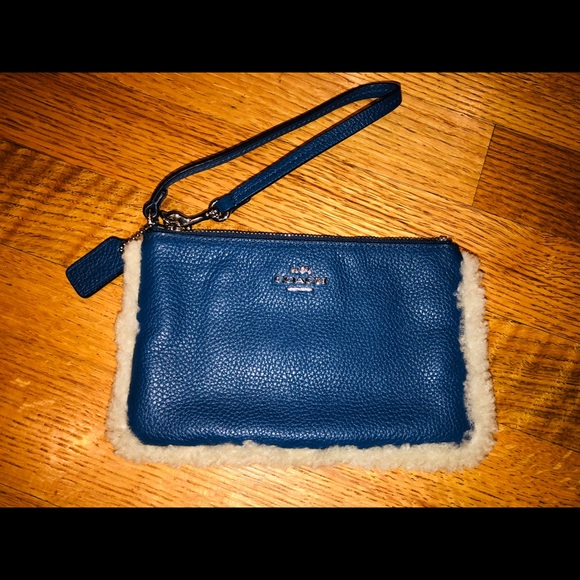 Coach Handbags - Coach fur trimmed wristlet